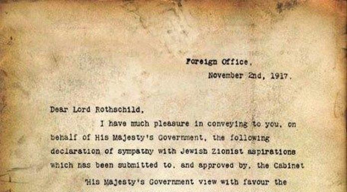 Balfour Declaration - The Worst Decision
