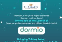 Thomsen brand Dormio Launches Technically Advanced Superior Quality Mattress and Pillows