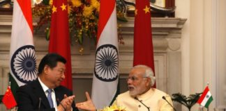 India Wrapped Around Chinese Finger