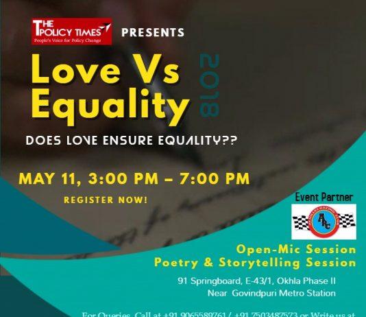 TPT & ARC Presenting Love Vs Equality