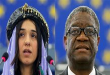 Denis Mukwege and Nadia Murad awarded for Nobel peace prize 2018