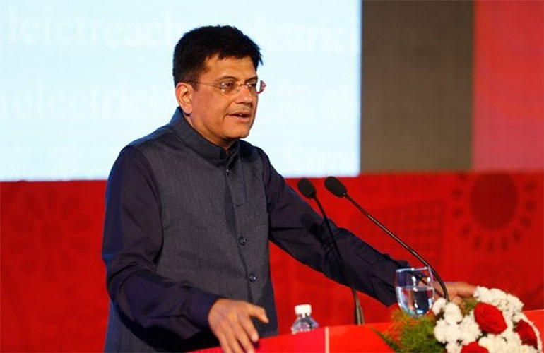 Piyush Goyal to get prestigious CARNOT PRIZE for electrifying 18,000 villages
