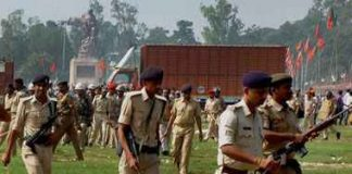 Agressive presentation of policemens in bihar cm asked for report