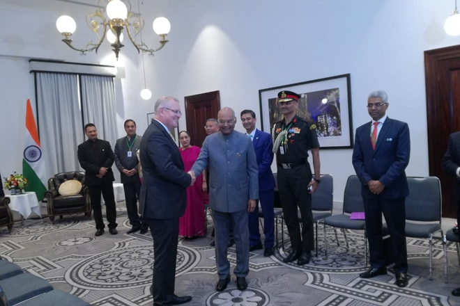 Prez Kovind meets Australian PM Morrison, signs five pacts