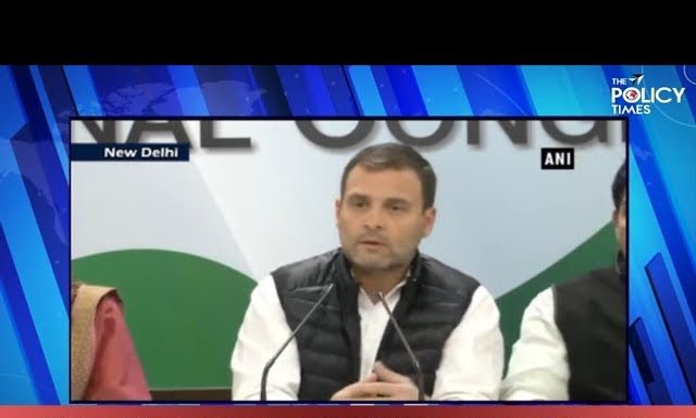 Congress President Rahul Gandhi addresses Press Conference on Rafale Scam