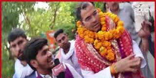 BJP candidate from West Delhi Parvesh Verma's roadshow
