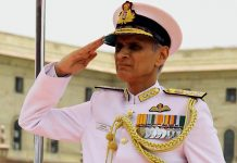 Admiral Karambir Singh took over as Chief of Naval Staff