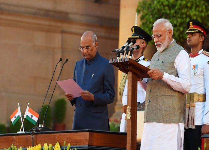 Narendra Modi takes oath as prime minister for second consecutive term
