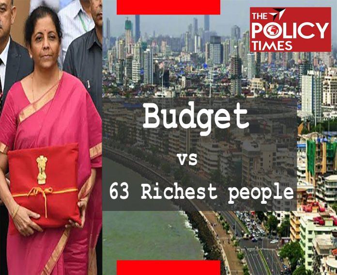 बजट का महत्व कम हो रहा है, मात्र 63 लोग है जिनके पास भारत की एक से अधिक बजट सम्पति है।