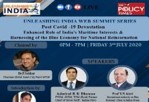WEBINAR| Blue Economy has emerged as a new paradigm, India needs to achieve the blue economy vision. the policy times