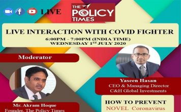 Live Discussion| Mr. Yaseen Hasan tells how to fight back the Covid, positivity is the new mantra.THE POLICY TIMES