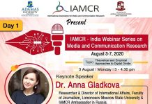 Webinar Series on Media and Communication Research by Global Stalwarts Begins from August 3.The policy times